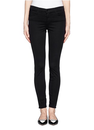 Main View - Click To Enlarge - J Brand - 'Ankle Crop' stretch sateen pants