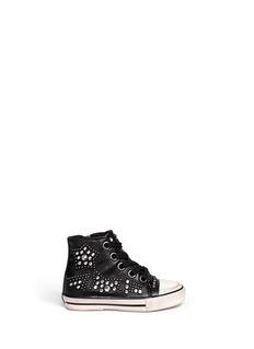 ASH'Flash' rhinestone stud leather toddler sneakers