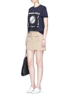 Stella McCartney'Thanks Girls' coated print polka dot T-shirt