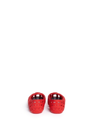 Back View - Click To Enlarge - Melissa - x Jason Wu 'Jean' ribbon effect cutout toddler flats