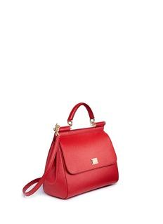 Dolce & Gabbana'Sicily' saffiano Dauphine leather satchel