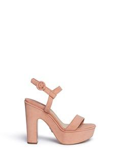 Paul Andrew'Stanton' suede platform sandals