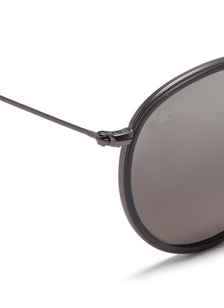 Detail View - Click To Enlarge - Ray-Ban - 'Round Folding Classic' sunglasses