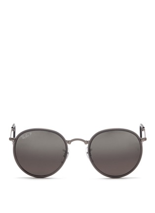 Main View - Click To Enlarge - Ray-Ban - 'Round Folding Classic' sunglasses