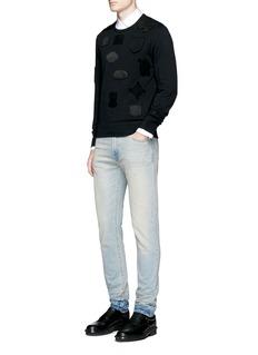 Alexander McQueenSatin crest patch organic cotton sweatshirt