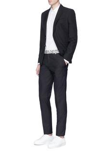 Alexander McQueenLeopard print waist wool-silk pants