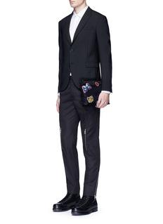 Alexander McQueenZip knee cotton twill pants