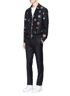 Alexander McQueenSkull crest jacquard blouson jacket