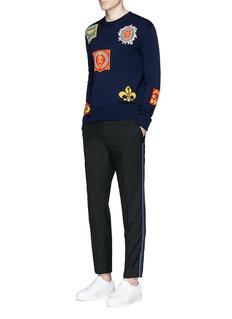Alexander McQueenRibbon outseam wool pants