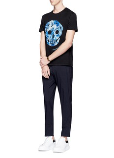 Alexander McQueenSkull embroidered organic cotton T-shirt