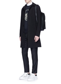 Alexander McQueenSkull sequin embellished organic cotton sweatshirt