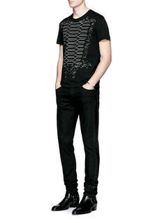 Alexander McQueenMilitary braid cutout organic cotton T-shirt