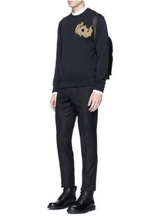 Alexander McQueenSunflower embroidered organic cotton sweatshirt