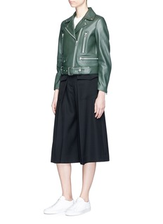 Acne Studios 'Mock' biker jacket in lambskin leather