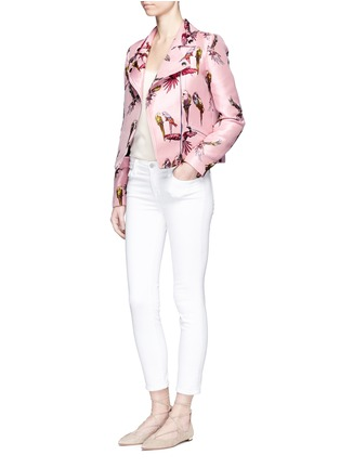 Figure View - Click To Enlarge - Giamba - Parrot jacquard biker jacket
