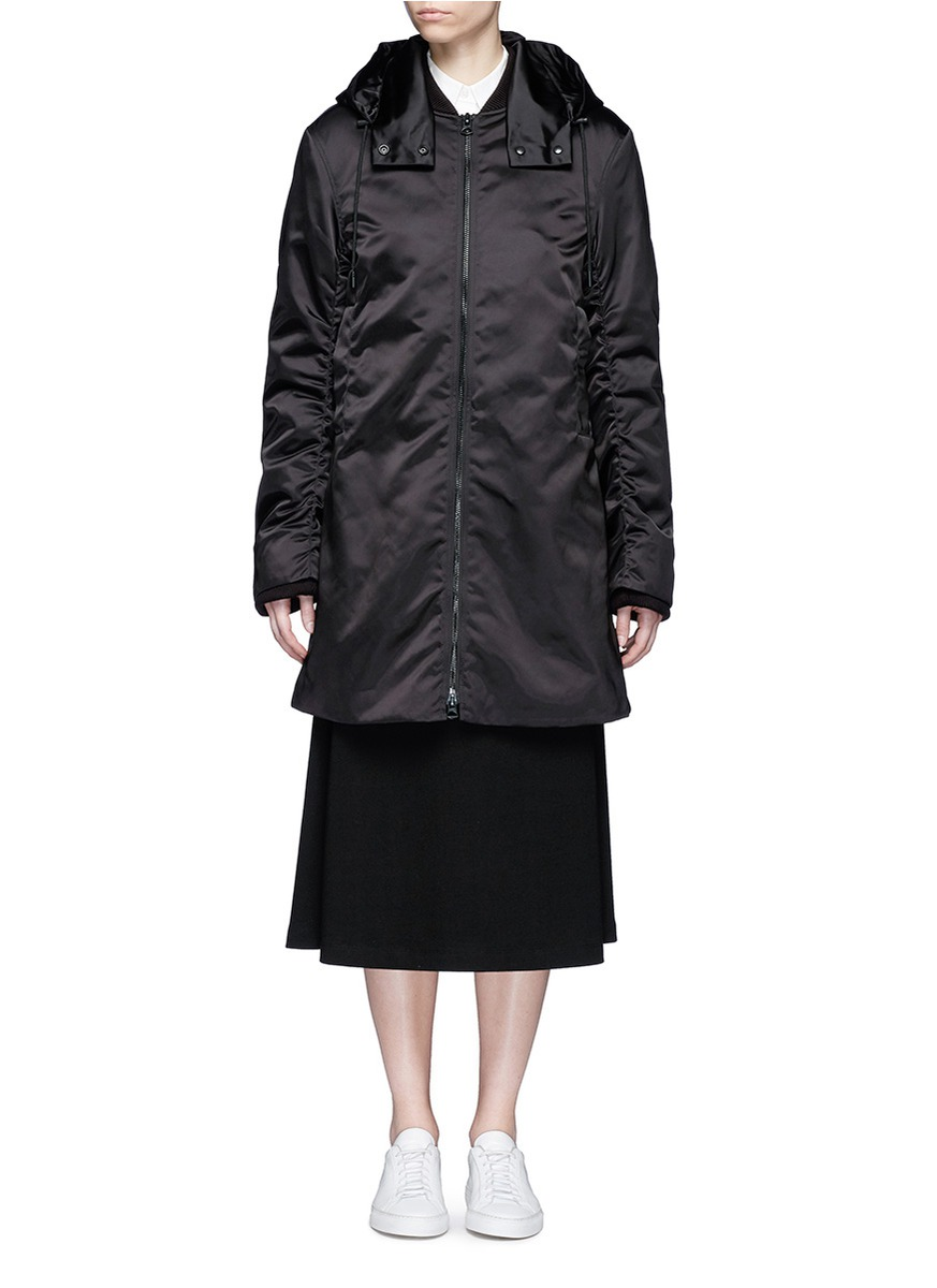 Lexi satin long bomber jacket by Acne Studios