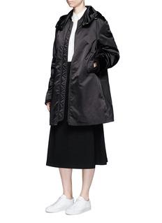 Acne Studios 'Lexi' satin long bomber jacket