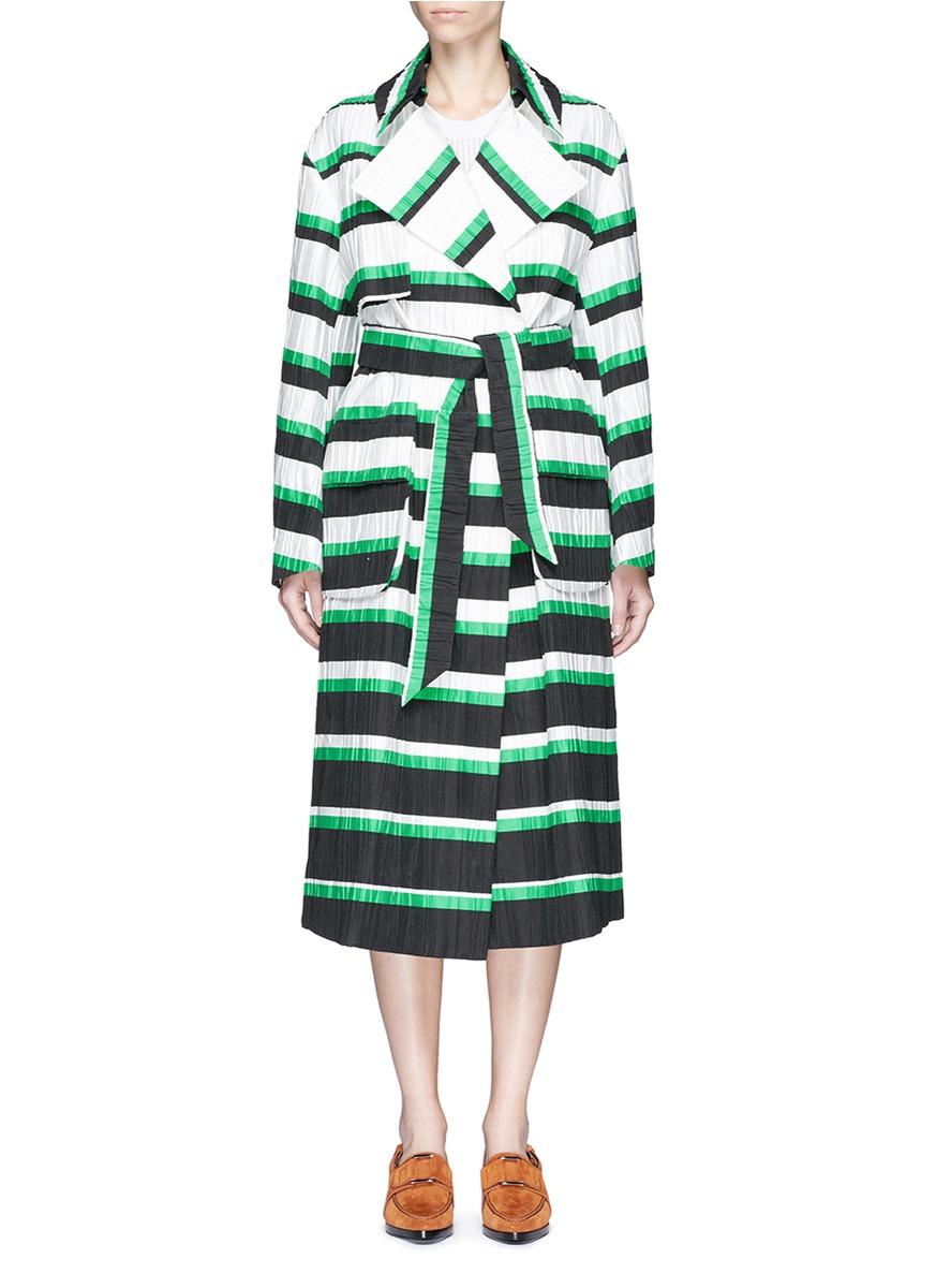 Oversized stripe coat by Emilio Pucci