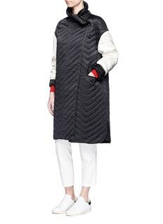 Isabel Marant'Howell' colourblock chevron quilted silk satin jacket