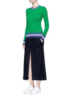 Emilio PucciStripe cotton rib knit sweater