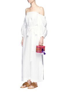 Lisa Marie Fernandez Balloon sleeve off-shoulder linen maxi dress