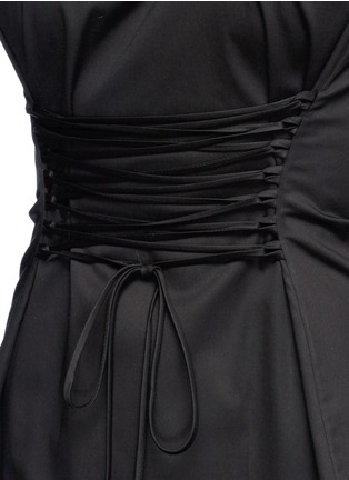 Detail View - Click To Enlarge - The Row - 'Lao' lace-up waist cotton poplin dress