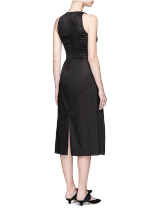 Back View - Click To Enlarge - The Row - 'Lao' lace-up waist cotton poplin dress