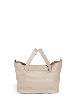 Detail View - Click To Enlarge - Meli Melo - 'Thela' medium pebbled leather trapeze tote