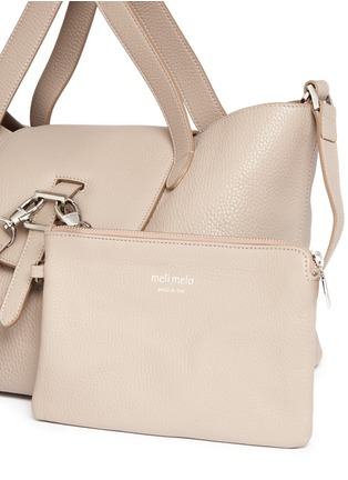 - Meli Melo - 'Thela' medium pebbled leather trapeze tote