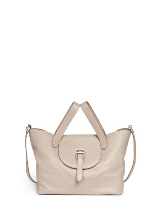 Main View - Click To Enlarge - Meli Melo - 'Thela' medium pebbled leather trapeze tote
