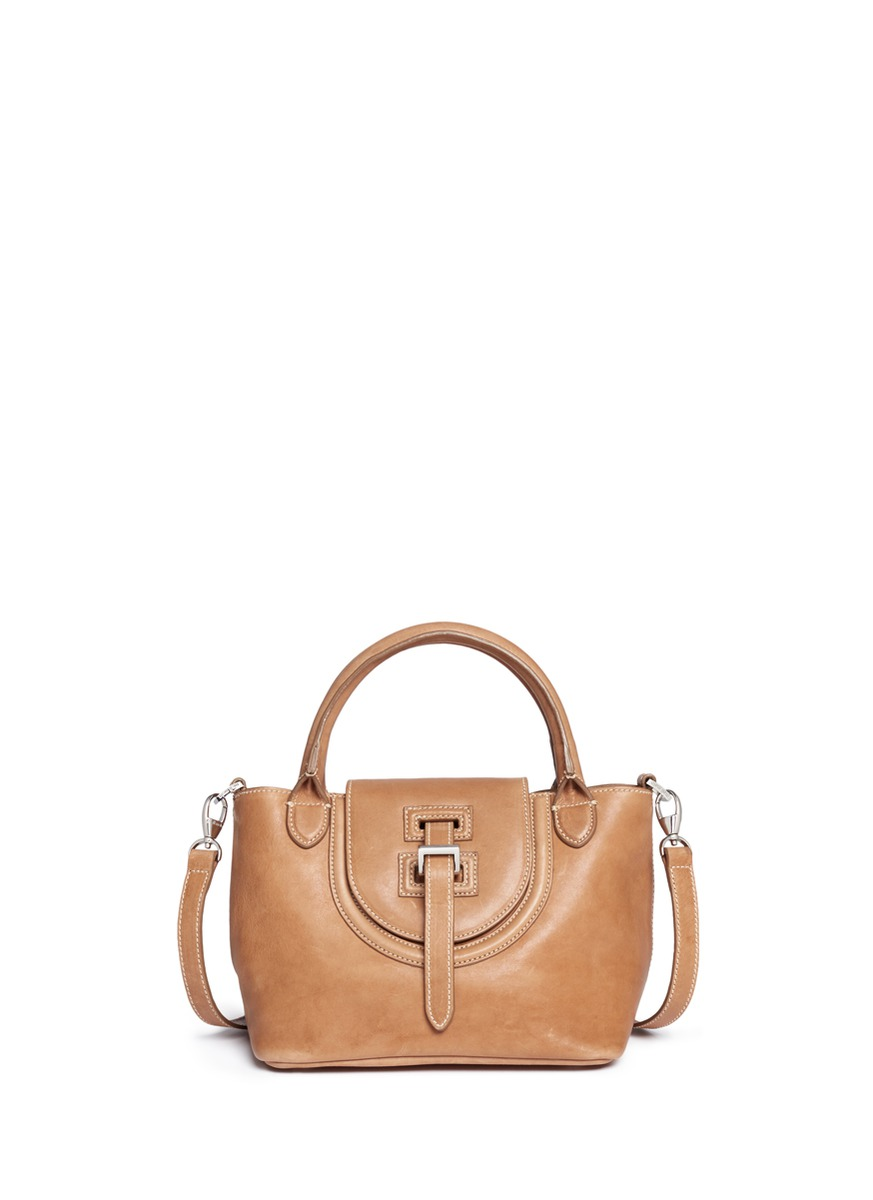 Halo mini leather shoulder bag by Meli Melo
