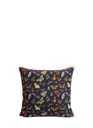Main View - Click To Enlarge - Silken Favours - 'Midnight Butterflies' silk cushion
