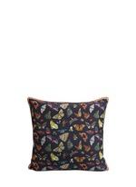 'Midnight Butterflies' silk cushion
