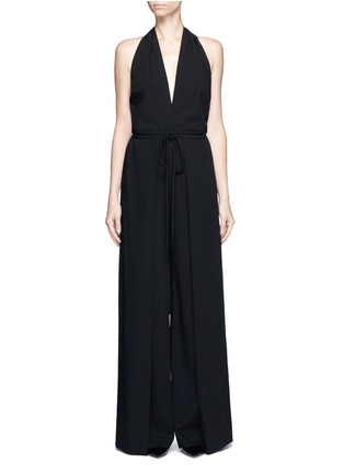 Main View - Click To Enlarge - Valentino - Drawstring waist halterneck jumpsuit