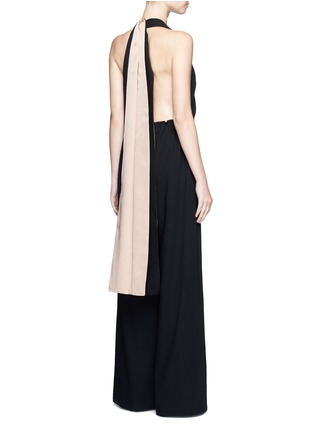 Figure View - Click To Enlarge - Valentino - Drawstring waist halterneck jumpsuit