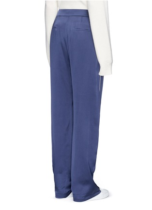 Back View - Click To Enlarge - Chloé - Piped trim silk satin pyjama pants