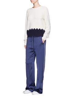 CHLOÉPiped trim silk satin pyjama pants