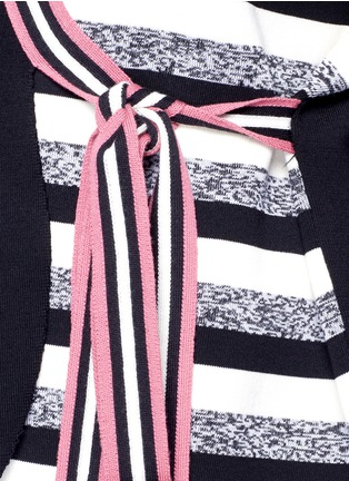 Detail View - Click To Enlarge - Ports 1961 - Stripe knit sash tie kimono wrap jacket