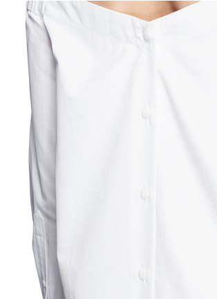 Detail View - Click To Enlarge - rag & bone - 'Kacy' off-shoulder cotton poplin dress