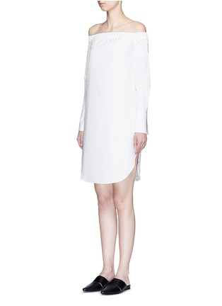 Front View - Click To Enlarge - rag & bone - 'Kacy' off-shoulder cotton poplin dress