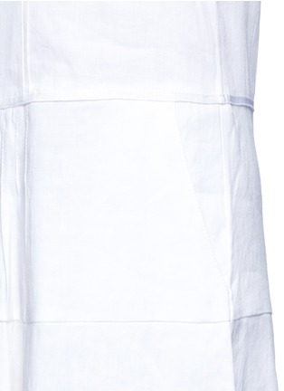 Detail View - Click To Enlarge - Vince - Drop waist pleat front linen blend dress