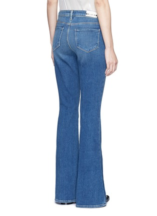 Back View - Click To Enlarge - L'Agence - 'Sophie' denim flared jeans