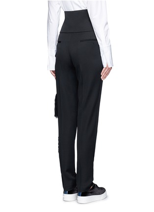 Back View - Click To Enlarge - Ports 1961 - Tassel side virgin wool pants