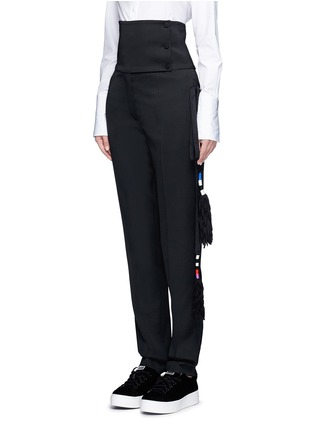 Front View - Click To Enlarge - Ports 1961 - Tassel side virgin wool pants