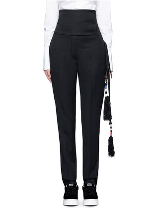 Main View - Click To Enlarge - Ports 1961 - Tassel side virgin wool pants