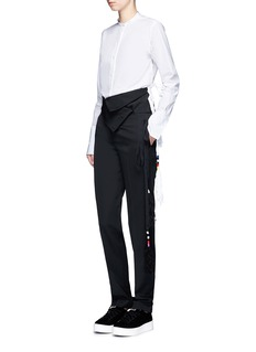 Ports 1961 Tassel side virgin wool pants