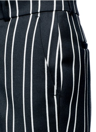 Detail View - Click To Enlarge - Givenchy - Stripe wool suiting pants