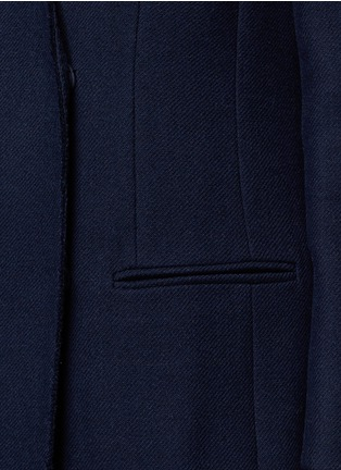 Detail View - Click To Enlarge - Lanvin - Felt collar wool blend coat