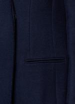 Felt collar wool blend coat