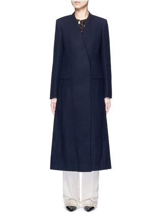 Main View - Click To Enlarge - Lanvin - Felt collar wool blend coat